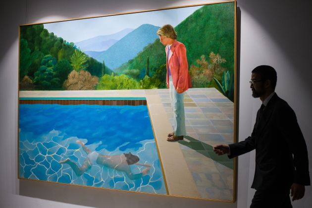 デビッド・ホックニー氏の作品「芸術家の肖像画 プールと2人の人物」