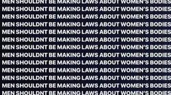 '낙태 범죄화 찬성 의원 25명은 모두 남자'에 대한 소셜미디어