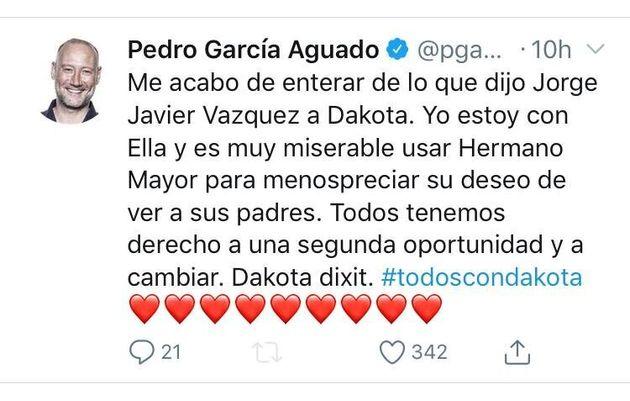 Pedro García Aguado estalla contra Jorge Javier Vázquez por esta frase en 'Supervivientes':