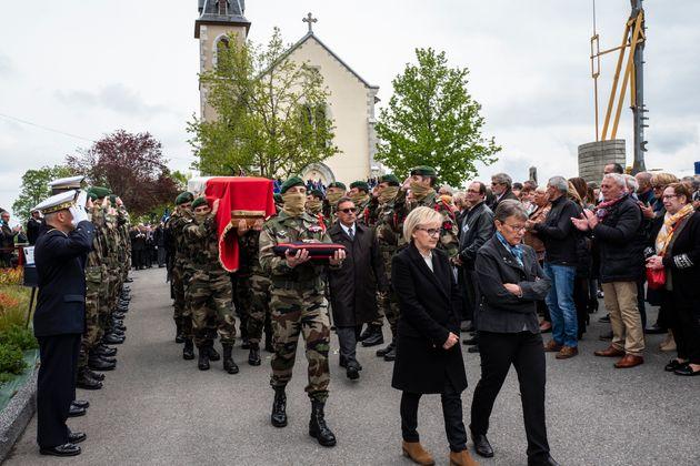 L'hommage à Alain Bertoncello à Montagny-les-Lanches en Savoie le 18 mai