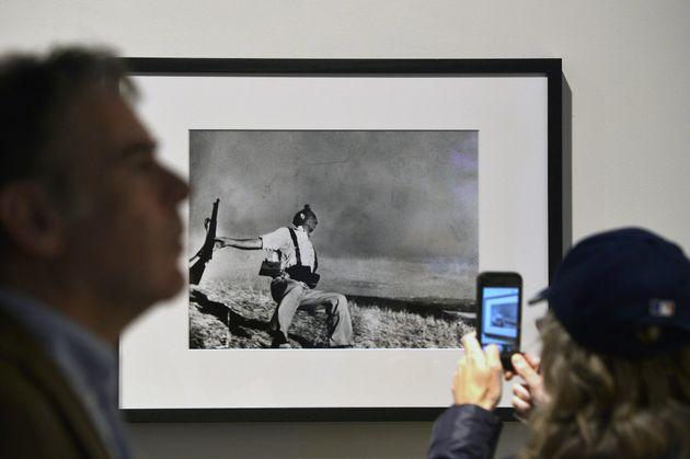 La foto 'Muerte de un miliciano' en una