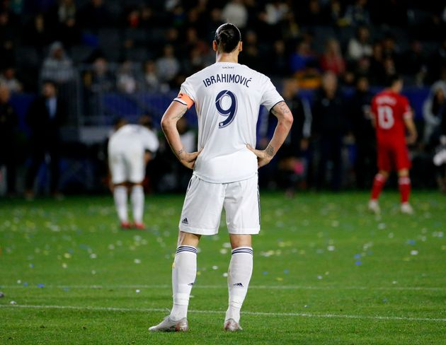 Zlatan Ibrahimovic lors de Los Angeles Galaxy-Chicago Fire le 2 mars