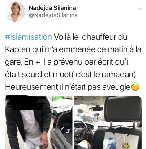 Nadejda Silania, colistière de Dupont-Aignan, indigne en s'en prenant à un chauffeur