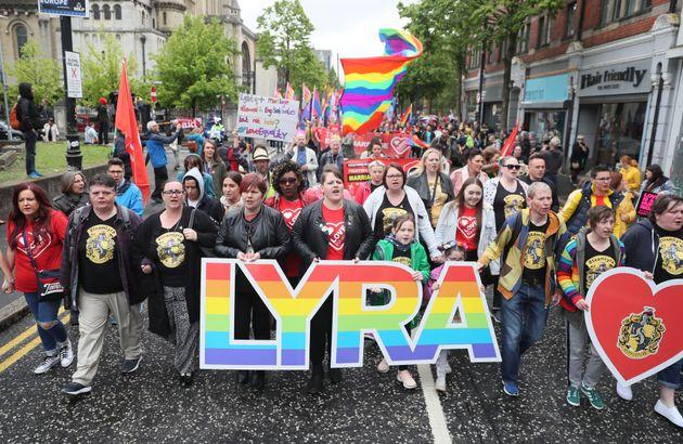 Lyra McKee's Partner Leads Rally Demanding Same-Sex Marriage in Northern