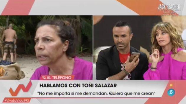 El tremendo cabreo de Toñi Salazar, de Azúcar Moreno, en 'Viva la