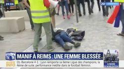 Une femme blessée à la tête à Reims en marge du cortège des gilets