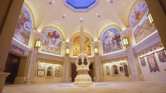 東京ディズニーシーに7月23日にオープンする新アトラクション「ソアリン:ファンタスティック・フライト」の内部