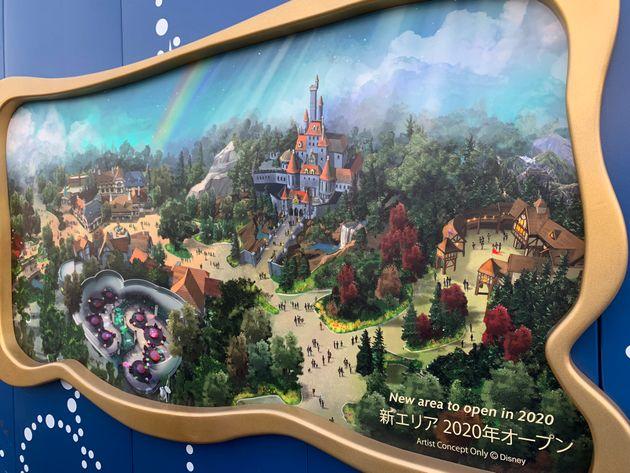 東京ディズニーランドでは、2020年春のオープンに向け、新エリア・新アトラクションの建設が進んでいる