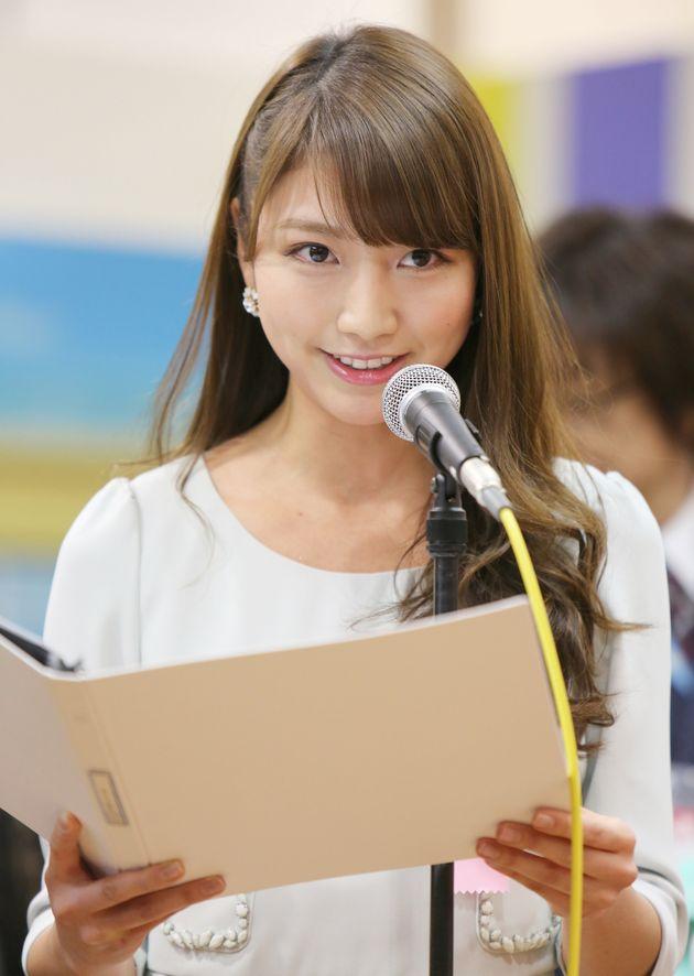 三田友梨佳アナウンサー(2015年02月04日撮影)