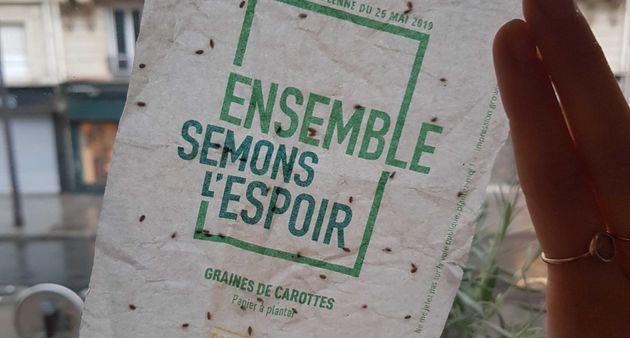 Une fois lus, ces tracts de la liste Europe Écologie-Les Verts pour les européennes du...