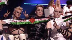 Eurovision: Des candidats déploient des banderoles pro-palestiniennes en