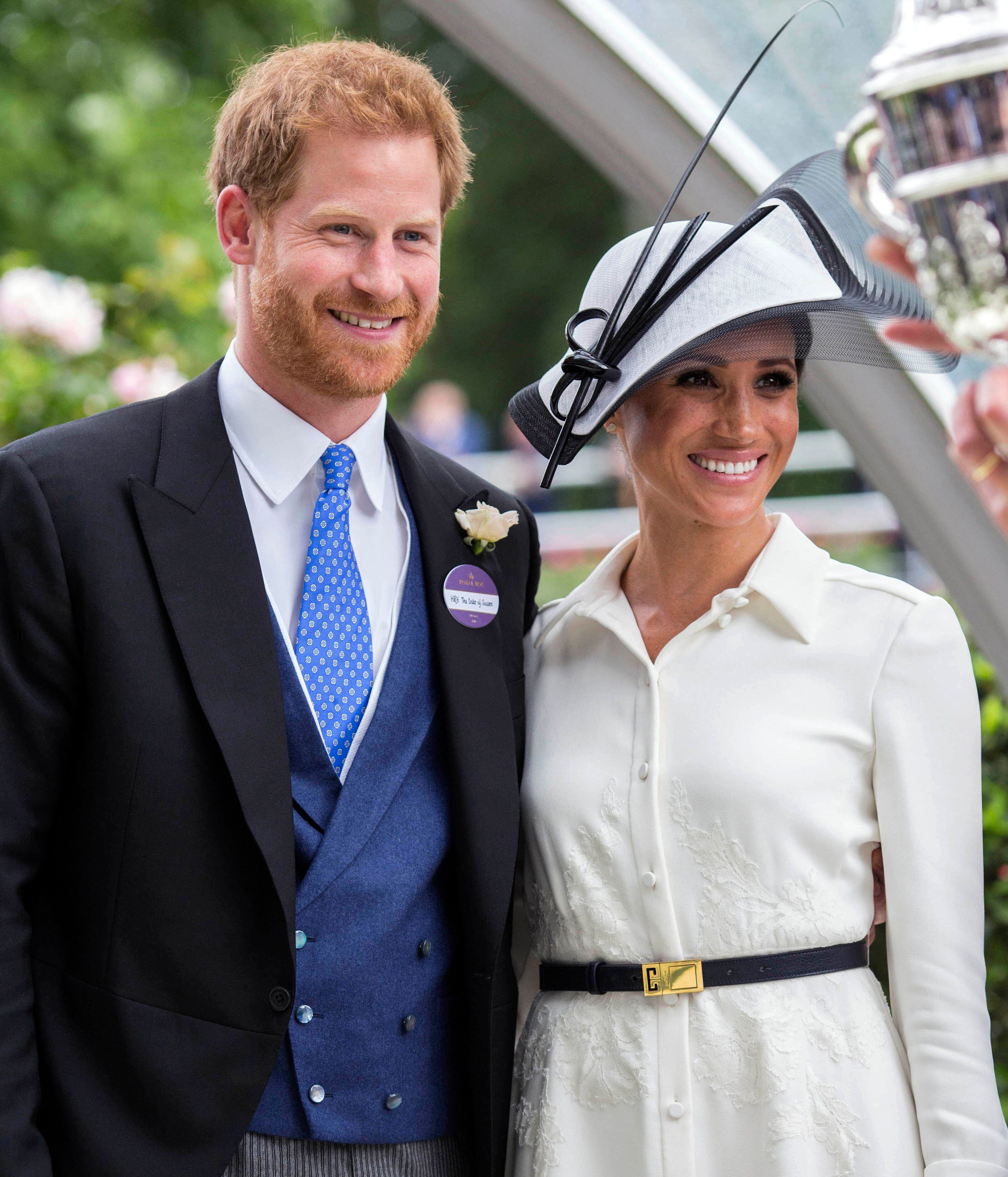 May 19th 2019 - Prince Harry The Duke of Sussex and Duchess Meghan of Sussex celebrate their first wedding anniversary. They were married at St. George's Chapel on the grounds of Windsor Castle on May 19th 2018. - File Photo by: zz/KGC-107/STAR MAX/IPx 2018 6/19/18 Prince Harry The Duke of Sussex and Meghan The Duchess of Sussex at Royal Ascot Day One at Ascot Racecourse. (Berkshire, England, UK)