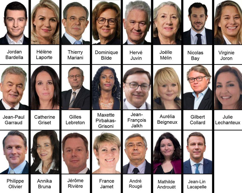 Le Rassemblement national a 23 élus dont un gelé le temps du Brexit.