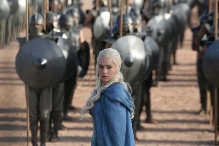 Dany with the Unsullied.