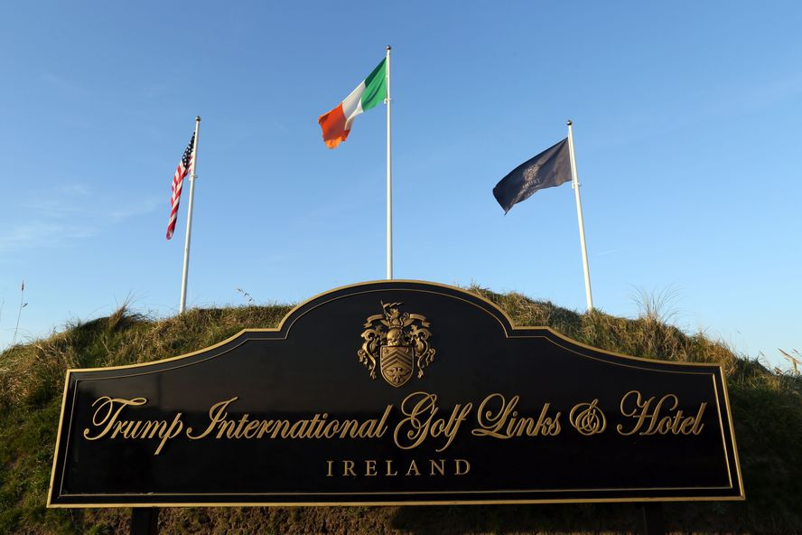 This is where President Trump was initially demanding to conduct White House business with the prime minister of Ireland. — Photograph: Agence France-Presse/via Getty Images.