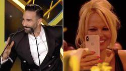 Avec ce discours, Adil Rami et Pamela Anderson ont décoiffé la soirée des trophées