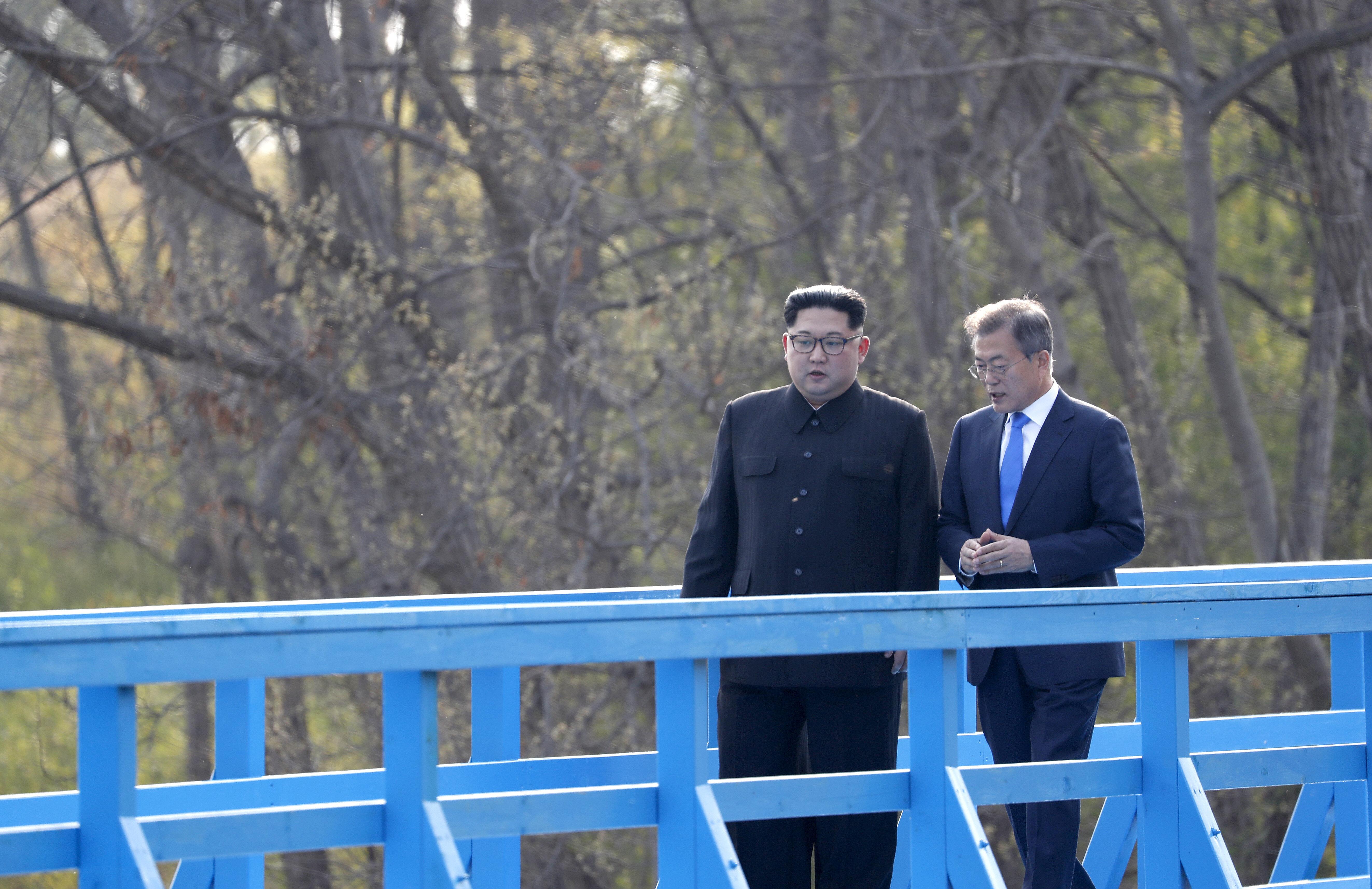 김정은 위원장이 도보다리 회담에서 밝힌 자신의 외국어