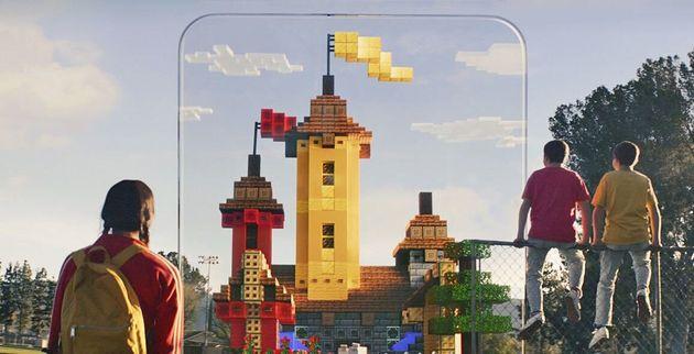 モバイルARゲーム「Minecraft