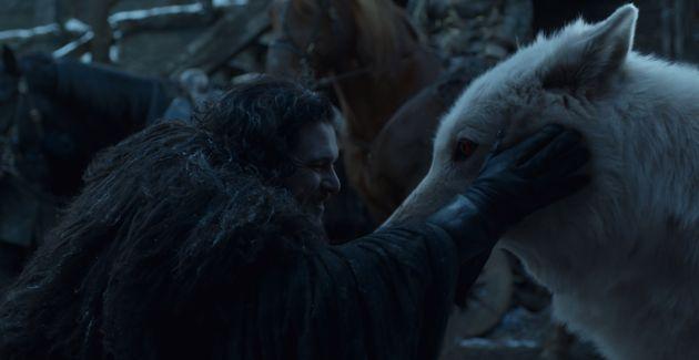 Jon Snow Finally Pet Ghost On 'Game Of Thrones' Season