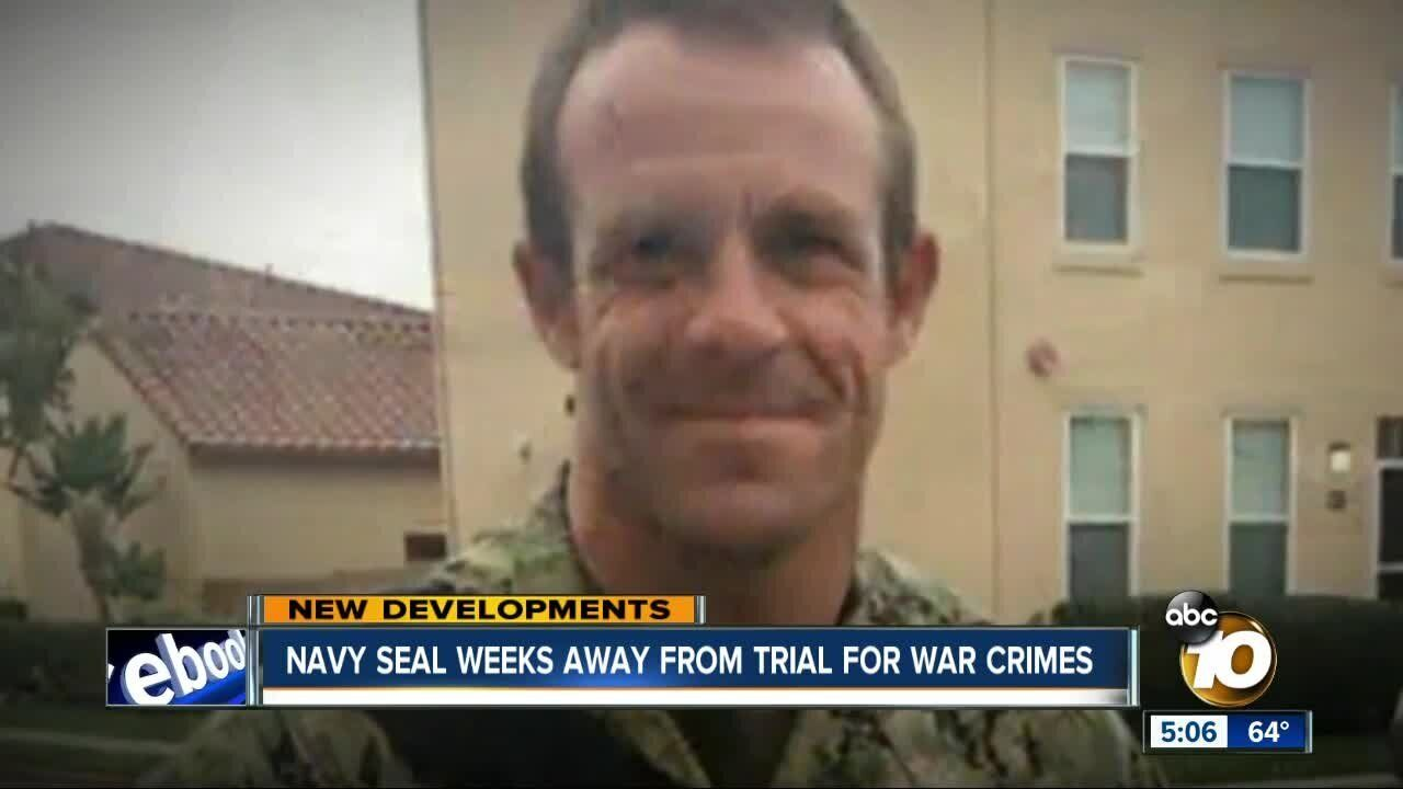 San Diego-based Navy SEAL Eddie Gallagher will soon go to trial, facing charges of killing an Iraqi prisoner and shooting at civilians.