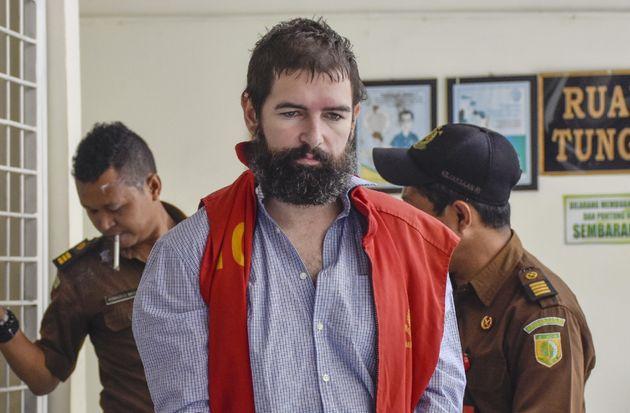 Félix Dorfin avant une comparution devant un tribunal indonésien le 29 avril