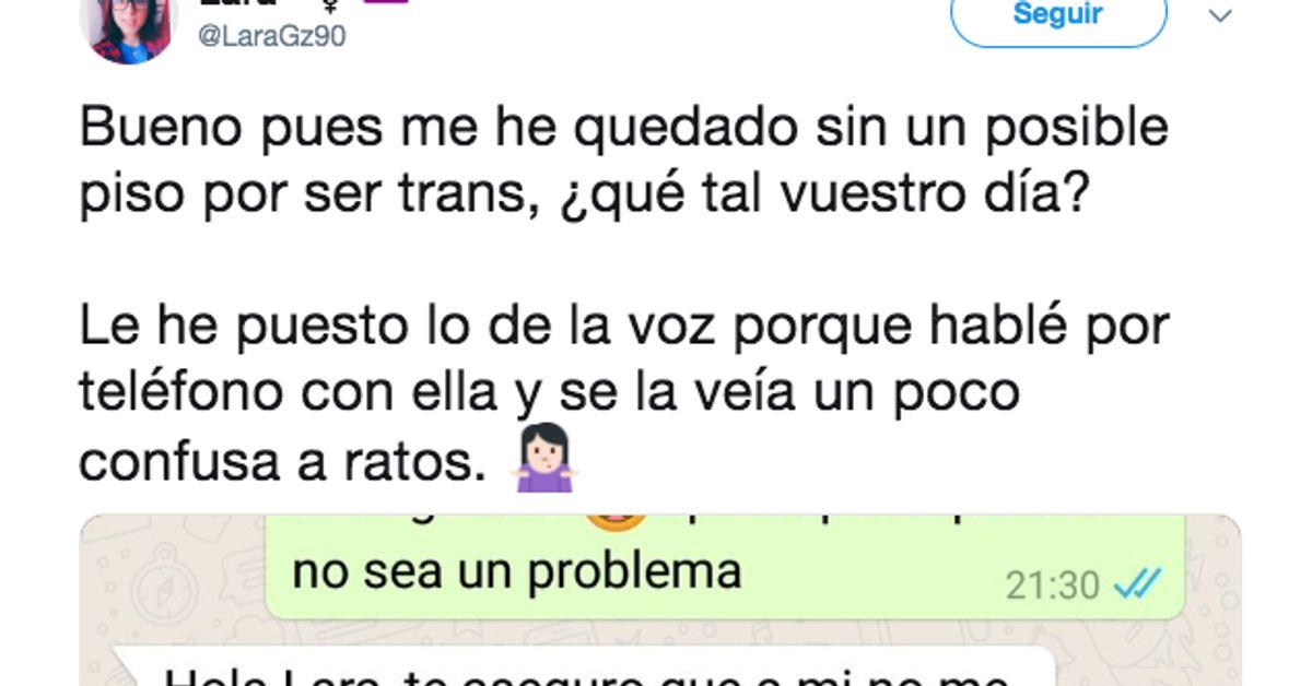 Una joven trans comparte la conversación de WhatsApp cuando intentó que le alquilaran un piso