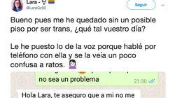 Una joven trans comparte la conversación de WhatsApp cuando intentó que le alquilaran un