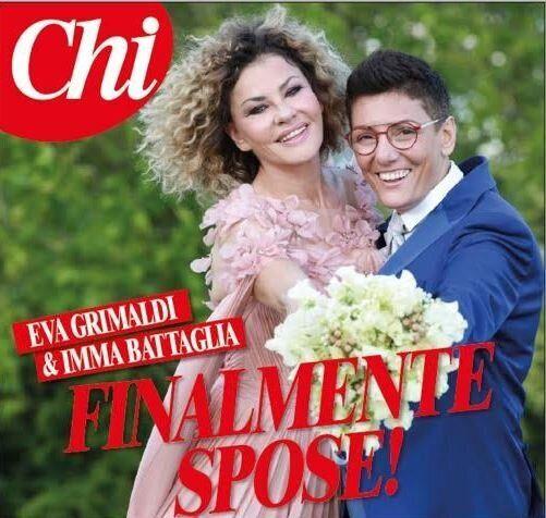 Eva Grimaldi e Imma Battaglia si sono sposate: