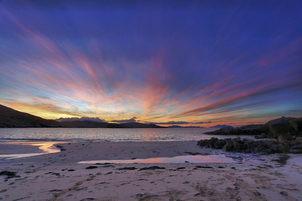 Early Morning at Hushinish: Sunrise casts colourful light over Hushinish Beach on Harris, Outer Hebrides.