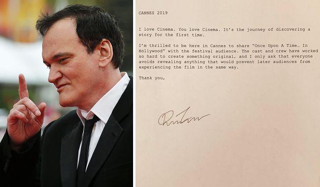 L'appello di Tarantino: