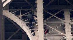 Evacúan y cierran la Torre Eiffel por la presencia de un hombre escalando su