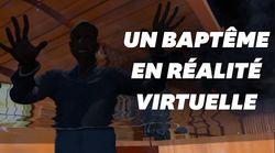 Un pasteur baptise un joueur en réalité
