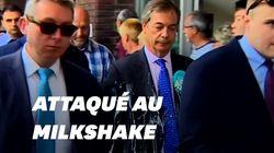 Nigel Farage attaqué au milkshake à
