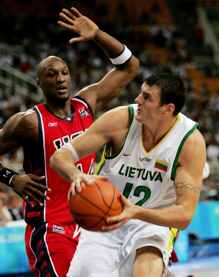 Lamar Odom in action during the 2004 Olympics.