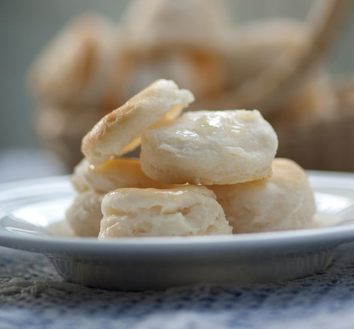 Nathalie Dupree's cream biscuits are small, light and tender.