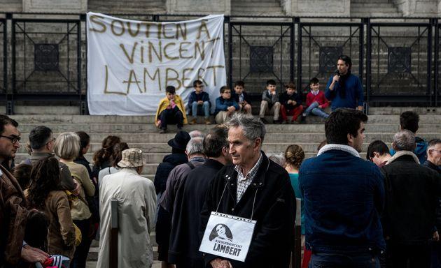 Une manifestation de soutien à Vincent Lambert à Lyon, ce 19