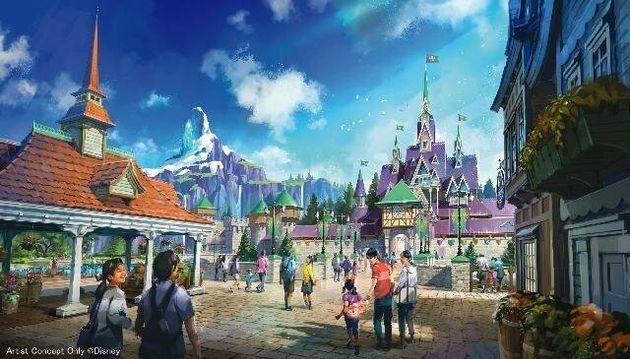 東京ディズニーシーに2023年度開業予定の新エリアは「アナと雪の女王」を含む3つのディズニー映画をテーマとしたものとなる見込みだ。