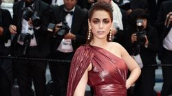 A Cannes la più bella del reame è Miriam Leone: sul tappeto rosso incanta