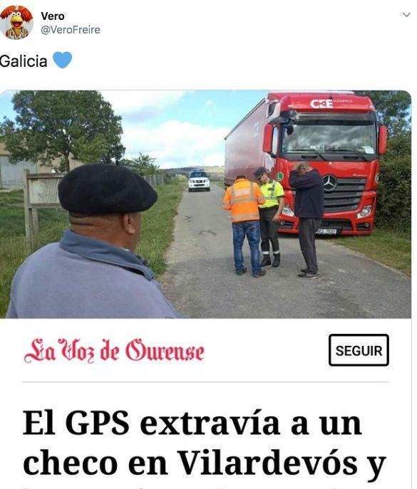 El genial gesto de los vecinos de un pueblo gallego con un camionero