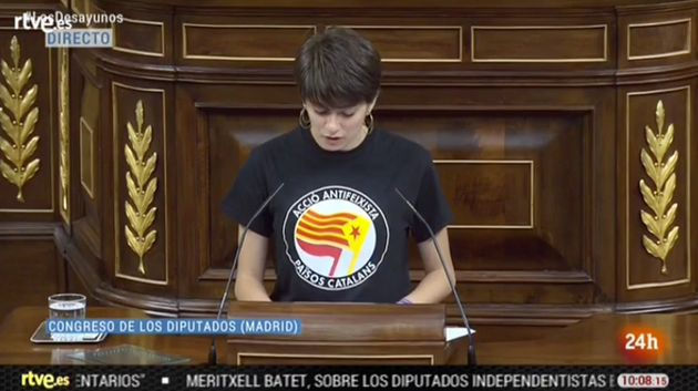 La camiseta de la diputada más joven del Congreso da mucho que hablar en