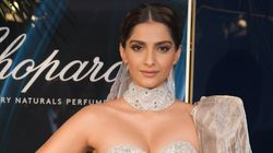 Sonam Kapoor Stuns In Red Valentino, Purple Elie Saab On Day 1 At Cannes