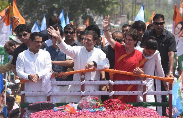Congress president Rahul Gandhi's roadshow with Priyanka Gandhi in Wayanad on 10