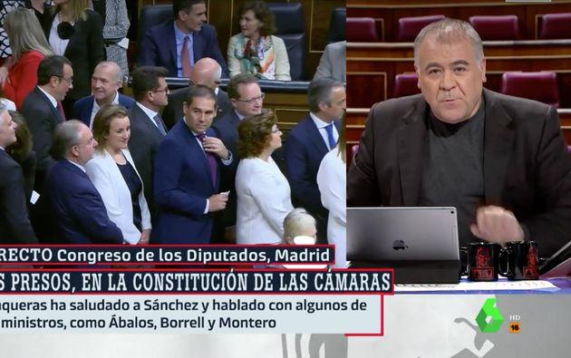 Ferreras denuncia en 'Al Rojo Vivo' que el Congreso les ha prohibido emitir estas fotos: