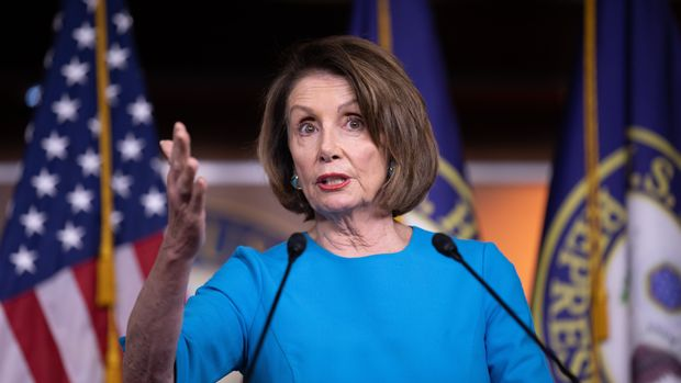 U.S. House Speaker Nancy Pelosi is addressing reporters at her weekly press conference on Capitol Hill on Thursday morning. President Trump is set to unveil his latest plan of immigration reform. Washington, D.C. May 16, 2019. (Photo by Aurora Samperio/NurPhoto via Getty Images)