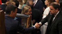 Así ha sido el saludo entre Pedro Sánchez y Oriol