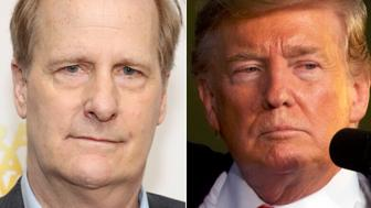 Jeff Daniels and Donald Trump