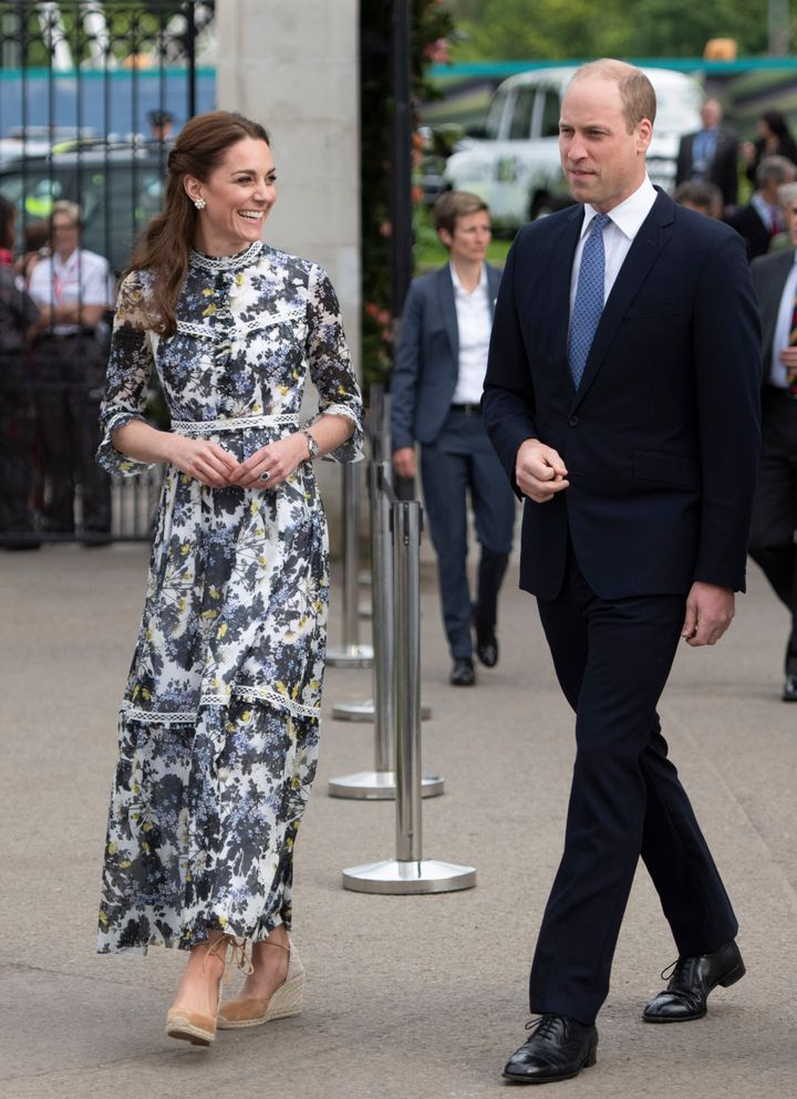 The Duke and Duchess of Cambridge at the RHS Chelsea Flower Show 2019 on May 20 in London.