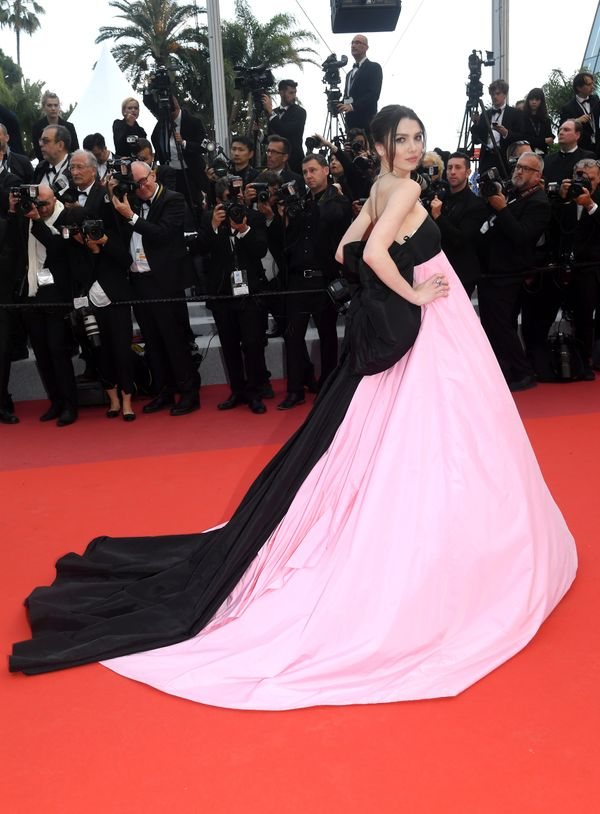 "The model wears a gown by Celia Kritharioti for the screening of ""La Belle Epoque."""