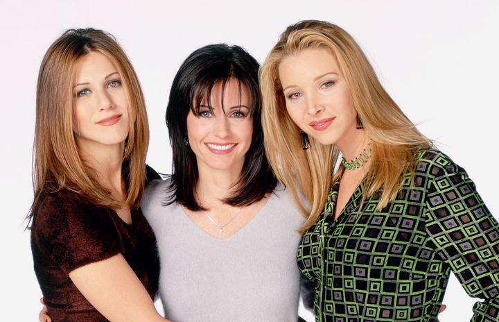 De gauche à droite:Jennifer Aniston, Courteney Cox et Lisa Kudrow.
