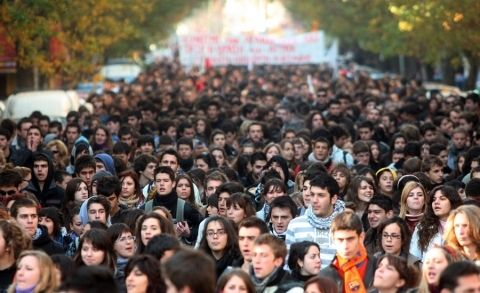 Οι φοιτητικές διαδηλώσεις του Δεκέμβρη